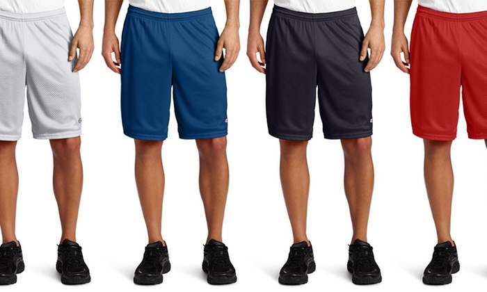 Champion Men's Lightweight Long Mesh Shorts With Pockets (2-Pack)