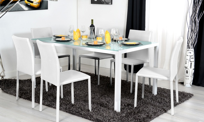 Table extensible et chaises empilables groupon shopping for Table extensible groupon