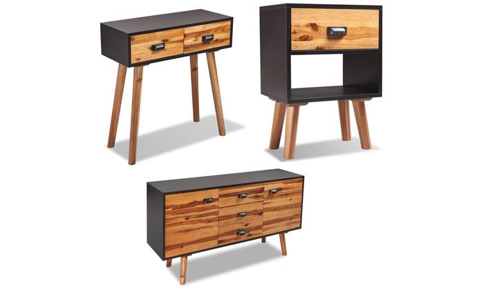 groupon goods global gmbh acacia wood bedroom furniture range