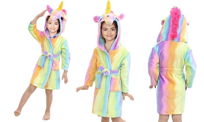 Kids  Rainbow Unicorn Bathrobe  20912b2d6