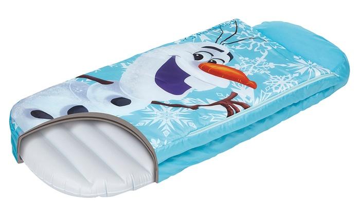 lit gonflable junior 39 39 readybed 39 39 olaf reine des neiges groupon shopping. Black Bedroom Furniture Sets. Home Design Ideas
