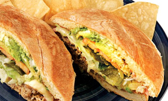 Tortas Mexico - Multiple Locations: $13.25for$25Worth ofAuthentic Mexican Cuisine at Tortas Mexico