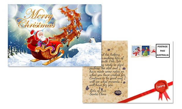 Personalised postcard from santa groupon goods for Groupon santa letter