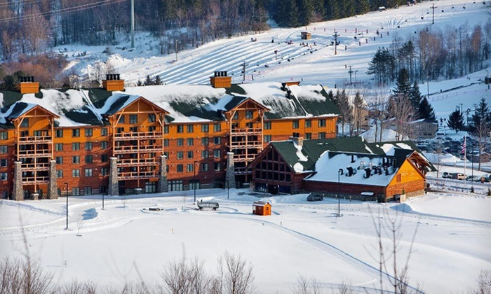 Greek Peak Mountain Resort - Albany / Capital Region: Two-Night Stay with Water-Park Passes and Breakfast at Hope Lake Lodge and Conference Center in Finger Lakes, NY