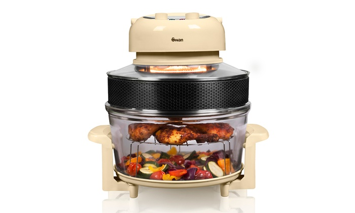 swan halogen oven and air fryer groupon goods. Black Bedroom Furniture Sets. Home Design Ideas