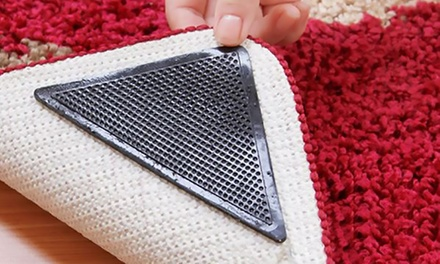 1x oder 2x 8er Set wiederverwendbaren Anti Rutsch Ecken für Teppiche