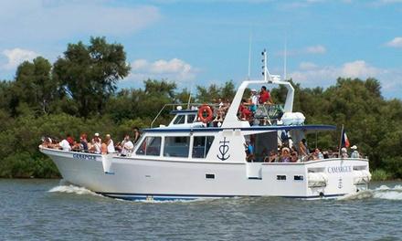 Promenade d1h30 en bateau à la découverte de la Camargue pour 2 adultes dès 12 à bord du bateau Le Camargue