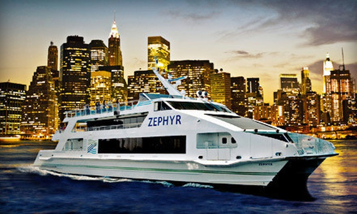 New York Water Taxi - South Street Seaport: $49 for a Halloween Party Cruise and Four Vodka Drinks from New York Water Taxi ($100 Value)