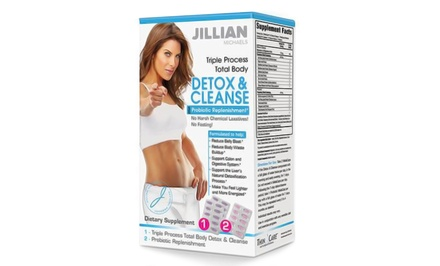 Jillian Michaels Triple Process Total Body Detox & Cleanse (14 Servings) and Probiotic Replenishment (7 Servings)