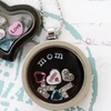 Round Locket with a Custom Hand-Stamped Plate from Stamp the Moment