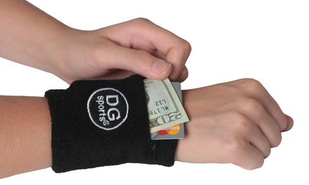 Zipper Sweatband Wristband Sport Wrist Arm Wallet