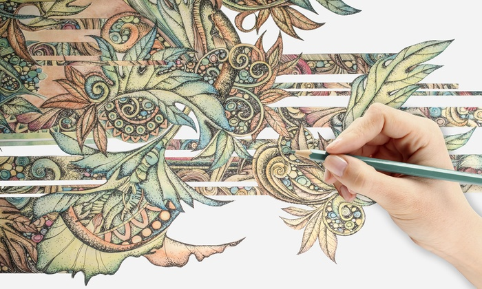Creative Coloring Course: $19 for an Online Creative Coloring Course ($699 Value)