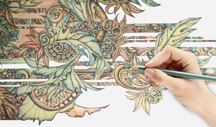 $19 for an Online Creative Coloring Course ($699 Value)