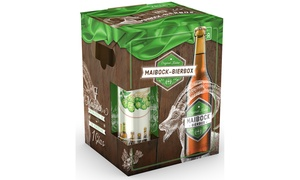 7 Bottles Maibock Beers + Glass