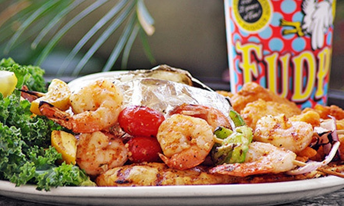 Fudpucker's Beachside Bar & Grill - Destin: $15 for 40 Arcade Tokens & $20 Worth of Burgers, Seafood & Drinks at Fudpucker's Beachside Bar & Grill ($30 Total Value)