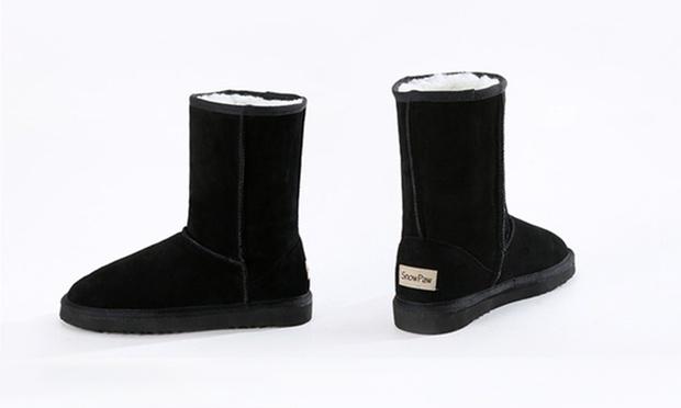 dffd601da6bf2 Bottes SnowPaw fourrées 100%cuir   Groupon Shopping
