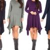 Women's Cascading Tunic Dress