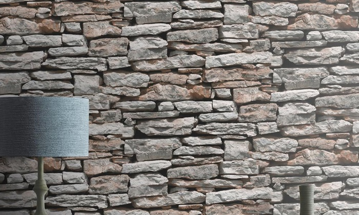 Brick effect wallpaper groupon goods for Cheap brick wallpaper