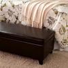 $99.99 for a Stratford Leather Storage Ottoman