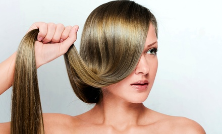 Brazilian Blowout with Optional Haircut at The W Salon (Up to 62% Off)