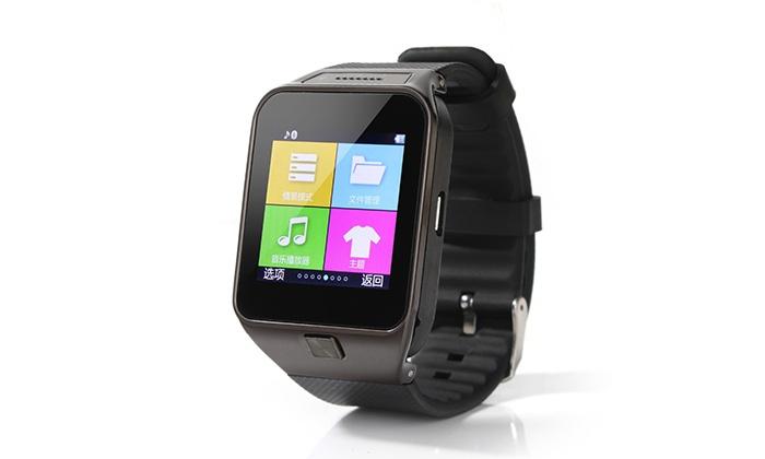 smartwatch mit kamera und telefon groupon goods. Black Bedroom Furniture Sets. Home Design Ideas
