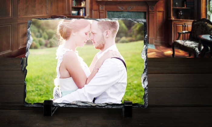 """Picture it on Canvas **NAT**: 6""""x8"""" or 12""""x12"""" Custom Print on Slate from Picture It On Canvas (Up to 58% Off)"""