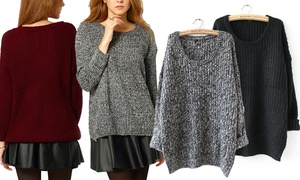 Pull femme oversize maille Laura