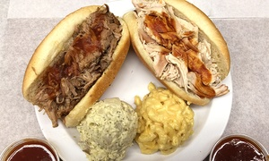 Britt's Bar-B-Que San Pedro: $12 for Two Pulled-Pork or Pulled-Chicken Sandwiches from Britt's Bar-B-Que San Pedro ($21.80 Value)