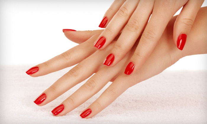 Mia Bella Salon and Spa - Shaheen Estates: Shellac Manicure, or Skin-Renewing Facial with Option of Massage at Mia Bella Salon and Spa (Up to 61% Off)