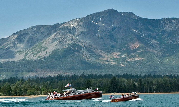 South Tahoe Wooden Boat Classic - Tahoe Keys Marina: South Tahoe Wooden Boat Classic for Two or Four with Optional Beer-Village Pass on July 25–July 26 (50% Off)