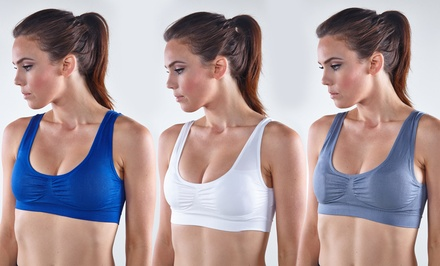 6-Pack of Angel Body Seamless Sports Bras in Assorted Colors