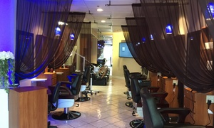 Aura Spa & Salon For Men: A Men's Haircut with Shampoo and Style from Aura Spa & Salon For Men (55% Off)