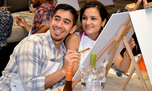 Painting for Singles & Couples: Two-Hour Painting Class for Two at Painting for Singles & Couples (Up to 46% Off)