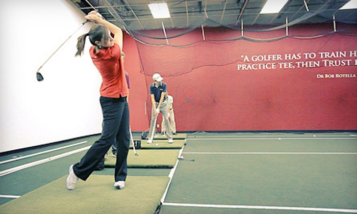 Sportz Skillz Golf & Tennis Center - Sportz Skillz: One Hour of Virtual Golf with a Golf Lesson or Range Balls at Sportz Skillz Golf & Tennis Center (Up to 60% Off)