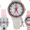Geneva Platinum Pink Ribbon Women's Watches