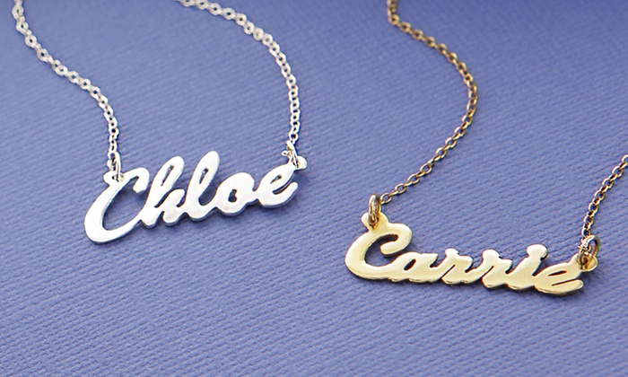 Personalized Sterling Silver Name Necklaces: Personalized Name Necklaces from Monogram Online. Multiple Styles from $24.99–$29.99. Free Shipping.