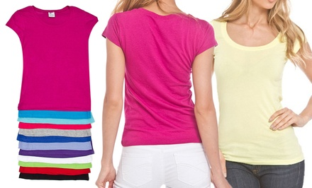 12-Pack of Women's Round-Neck T-shirts