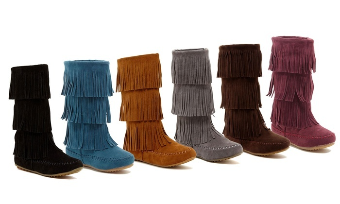 Boho Festival Fringe Boots | Groupon