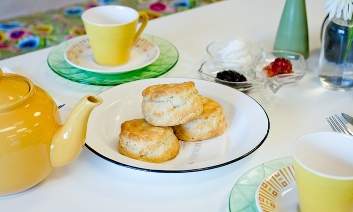 Leaf Kitchen - Cedar Rapids / Iowa City: Cream Tea with Scones and Jam for Two or Four at Leaf Kitchen (43% Off)