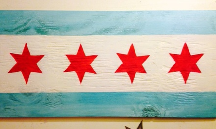 Chicago Flag Pride BYOB Painting Class for One or Two with Nicole Lamb at L & A Healing Studio (50% Off)