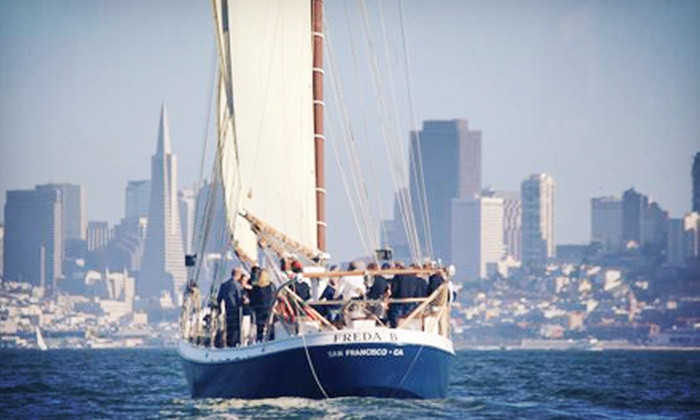 SF Bay Adventures - Freda B: Local History Sail orMonday-Night Sunset Sailon a Classic Schooner from SF Bay Adventures (Up to 51% Off)