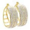 2 CTTW Diamond Hoop Earrings