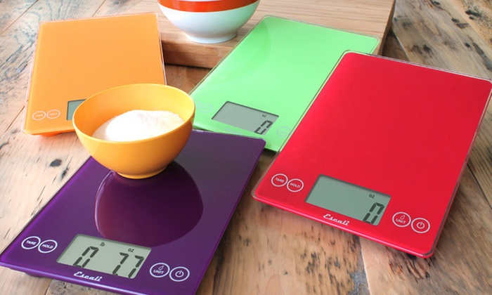 Escali Arti Digital Glass Kitchen Scale: $24.99 for an Escali Digital Glass Kitchen Scale ($49.95 List Price). 12 Colors Available. Free Shipping and Returns.