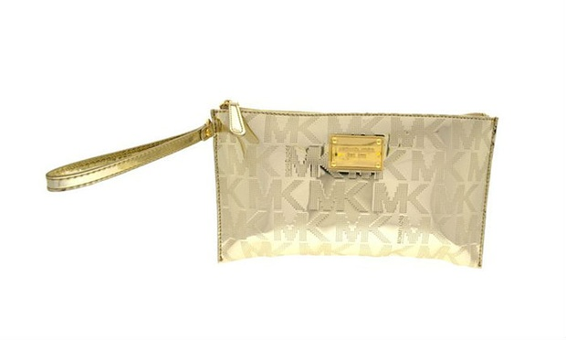 890f822f422be ... Signature Mirror Metallic Pale AED 399 for Michael Kors Zip Clutch- Pale  Gold -35H3MTTW7Z (34% off ...