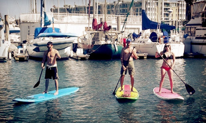 Marina Paddle - Marina Del Ray: Two-Hour Group Standup-Paddleboard Lesson for One, Two, or Four at Marina Paddle (Up to 57% Off)