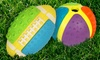 Multipet Hodgepodge Rubber Dog Ball with Bell Inside: Multipet Hodgepodge Rubber Dog Ball with Bell Inside. Round or Football Shape. Free Returns.