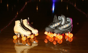 Sunrise Rollerland: Admission for Three, or Admission for One, Three, or Six with Skate Rental at Sunrise Rollerland (Up to 55% Off)