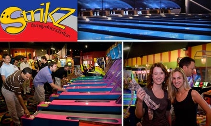 Strikz Entertainment - Dallas: $19 for Three Games of Bowling, Shoe Rental, and a Four-Hour Game Pass at Strikz Entertainment