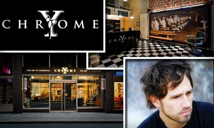 Y-Chrome - Downtown: $20 for a Gentlemen's Haircut and Hot-Towel Shave at Y-Chrome ($46 Value)