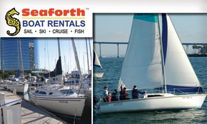 Seaforth Boat Rentals - Coronado: $99 for a Two-Day Sailing 101 Class at Seaforth Boat Rentals in Coronado ($249 Value)